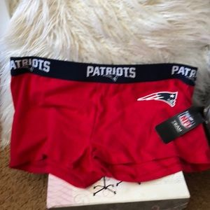 NFL Patriots for gals boy cut shorts. NWT.